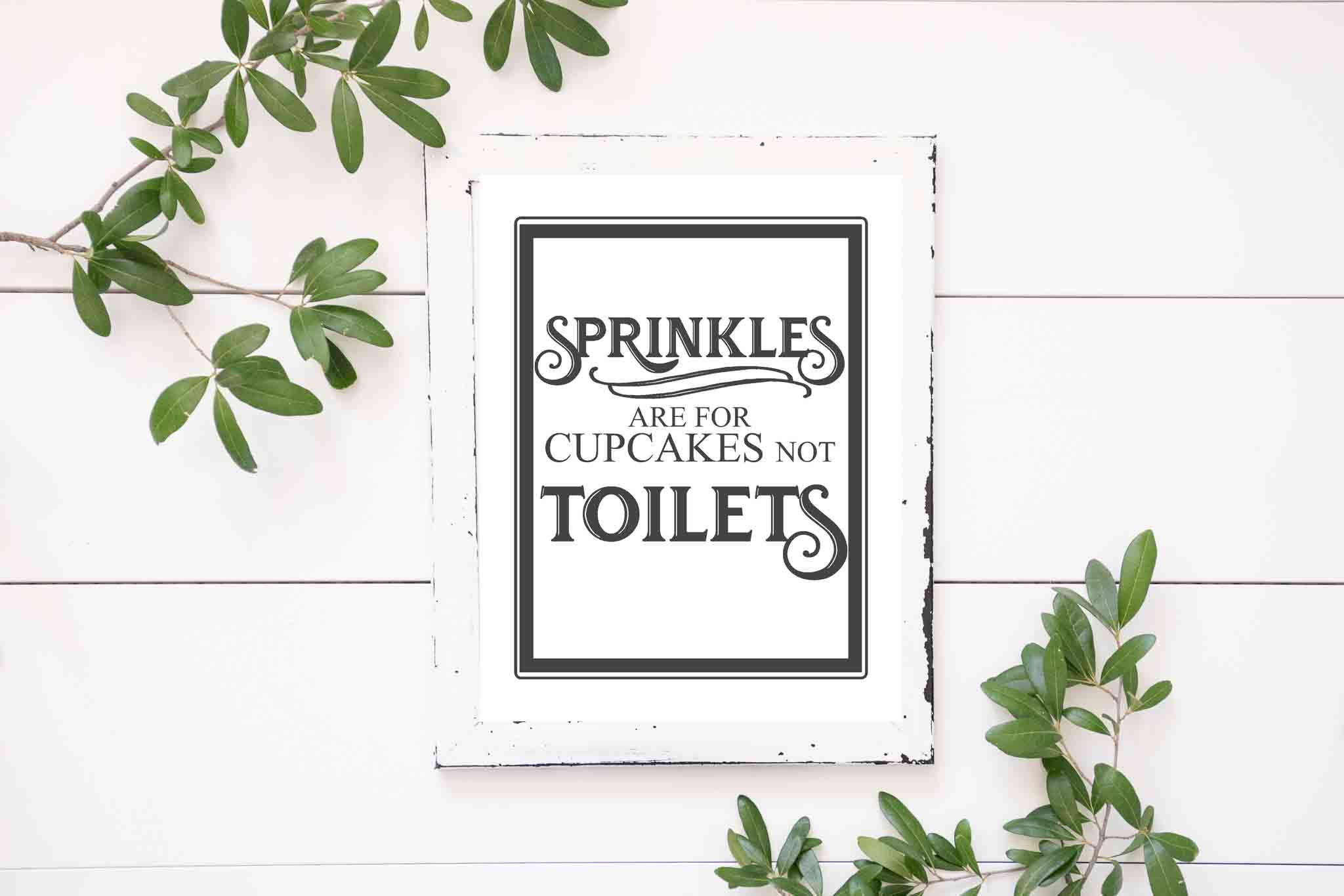 picture about Printable Bathroom Quotes called No cost Traditional Toilet Printables - The Mountain Belief Cottage