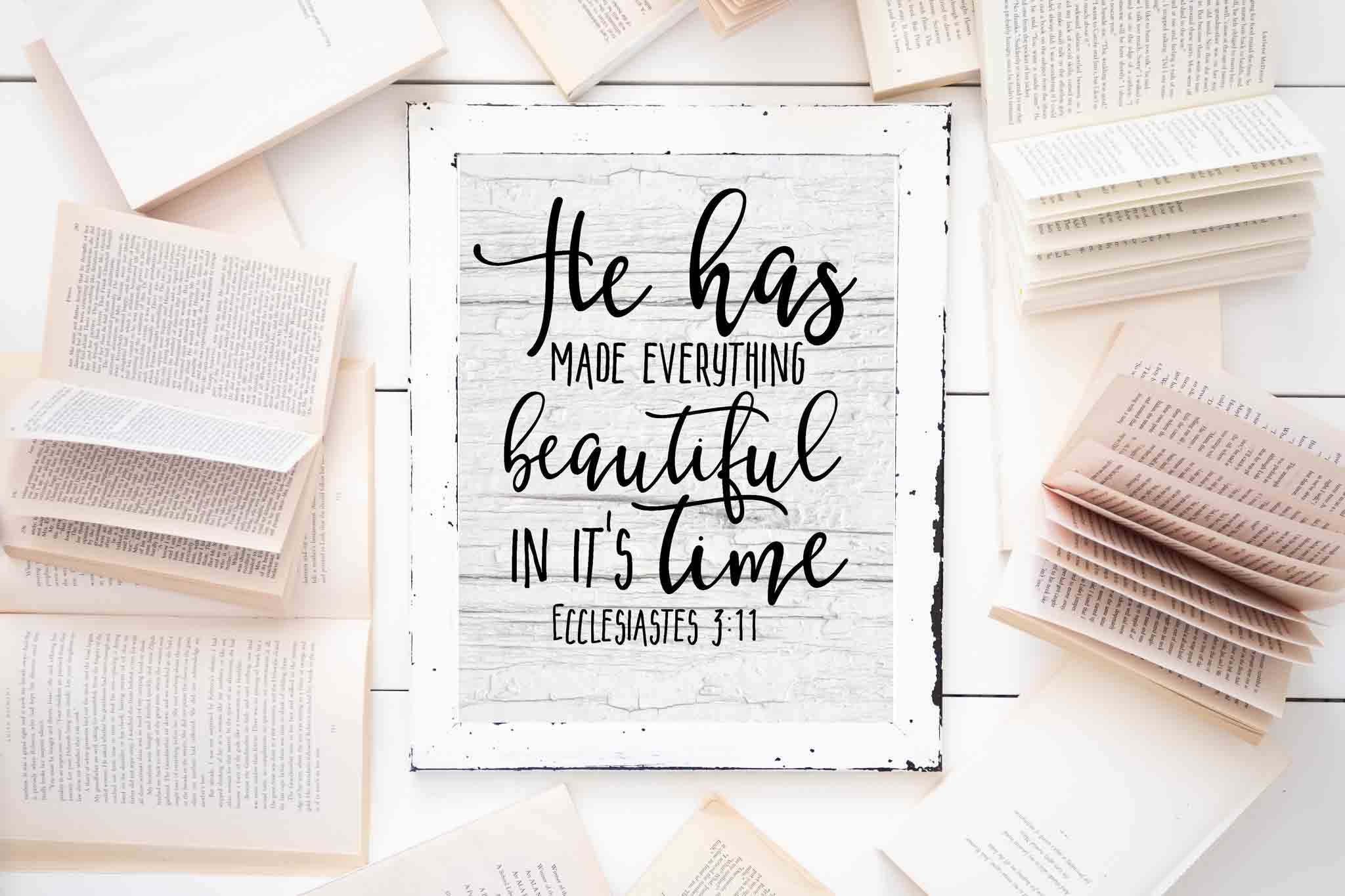 image regarding Free Printable Scripture Word Art referred to as Absolutely free Farmhouse Scripture Printables - The Mountain Watch Cottage