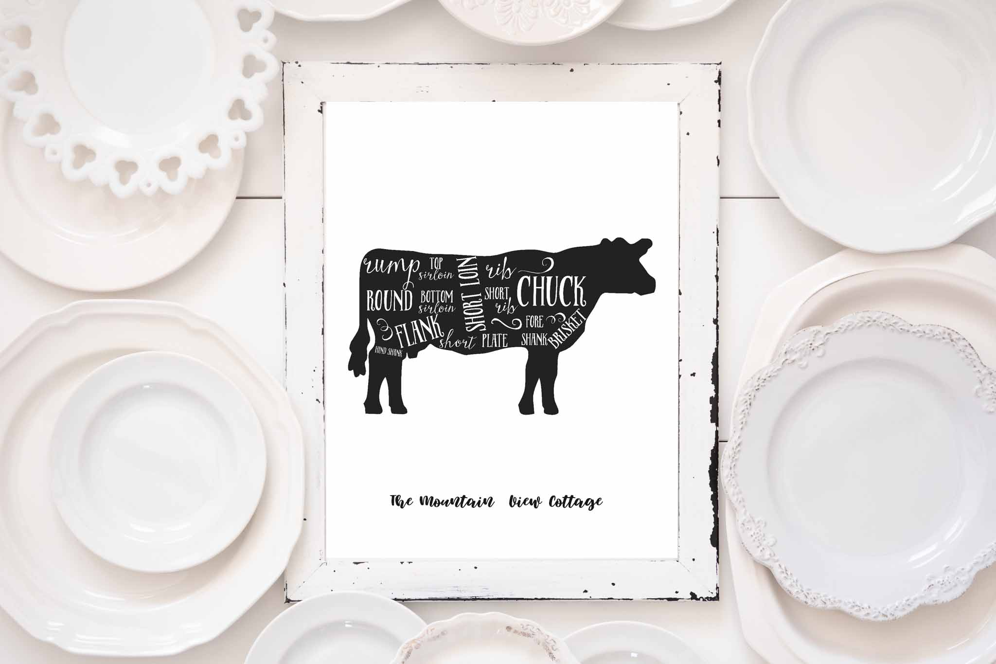 Free Printables-Free Farmhouse Butcher Prints - The Mountain View