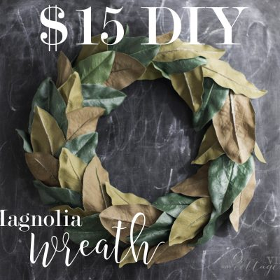 DIY-$15 Magnolia Wreath