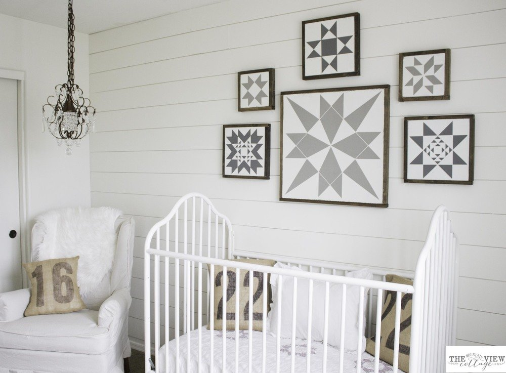 White Shiplap Gender Neutral Nursery Reveal