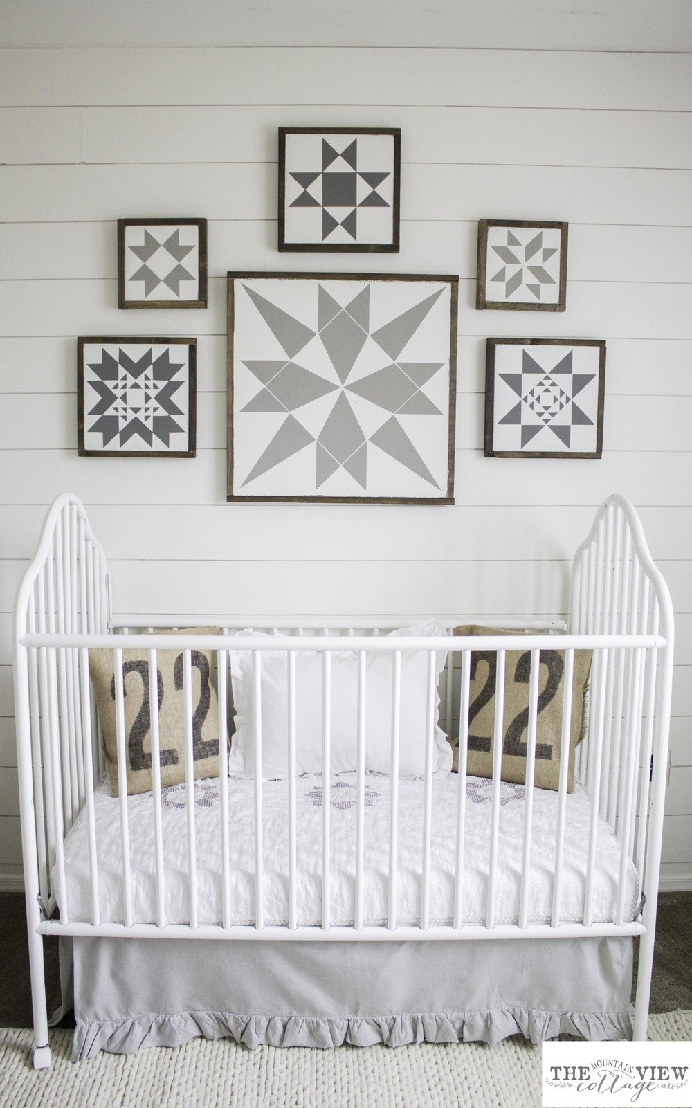 The Starting Point For This Nursery Was Walls I Knew From Day One Wanted To Do Some Joanna Gaines Inspired Ship Lap And Paint Everything