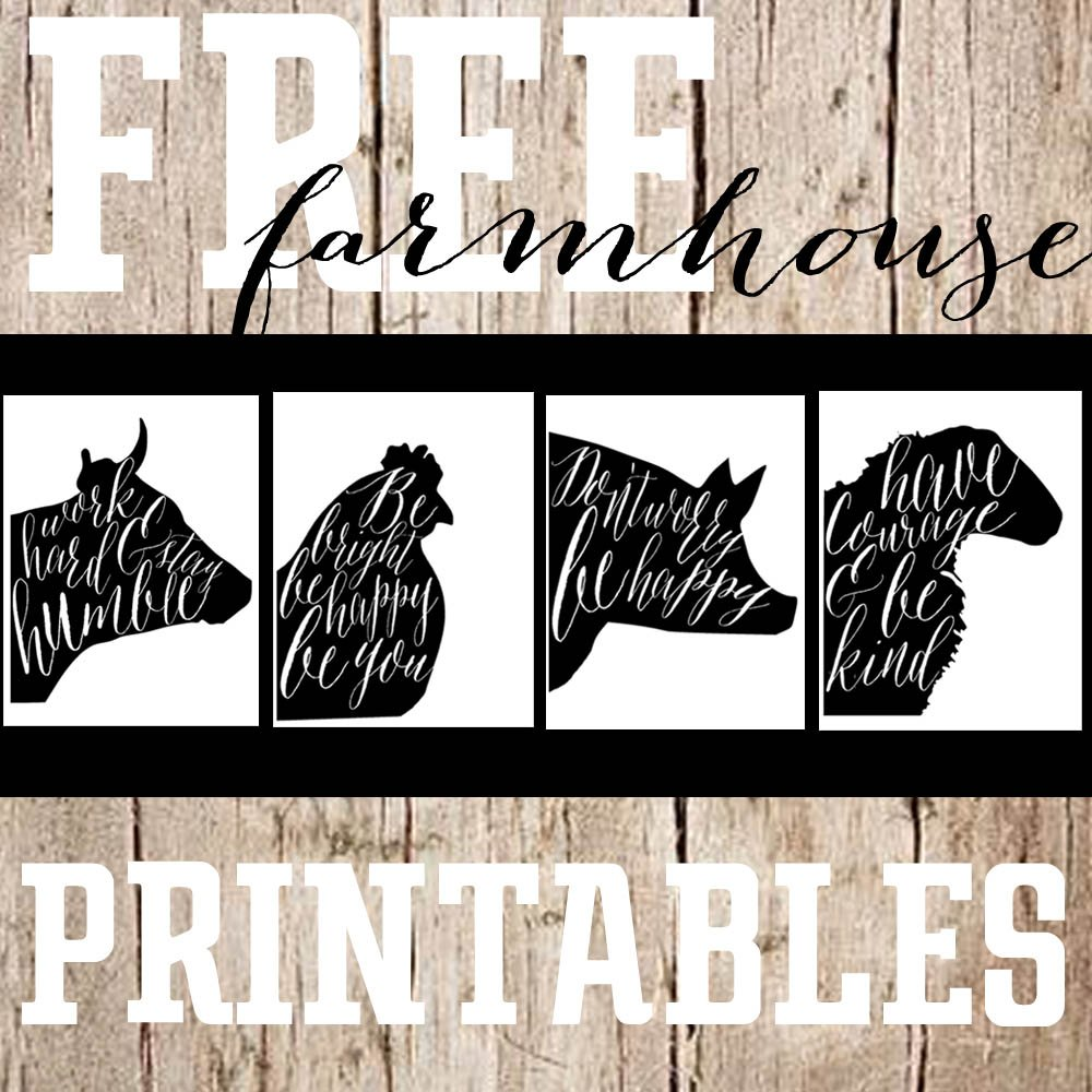 picture about Farmhouse Printable called Absolutely free Printable Saay-Farmhouse Animal Prints - The
