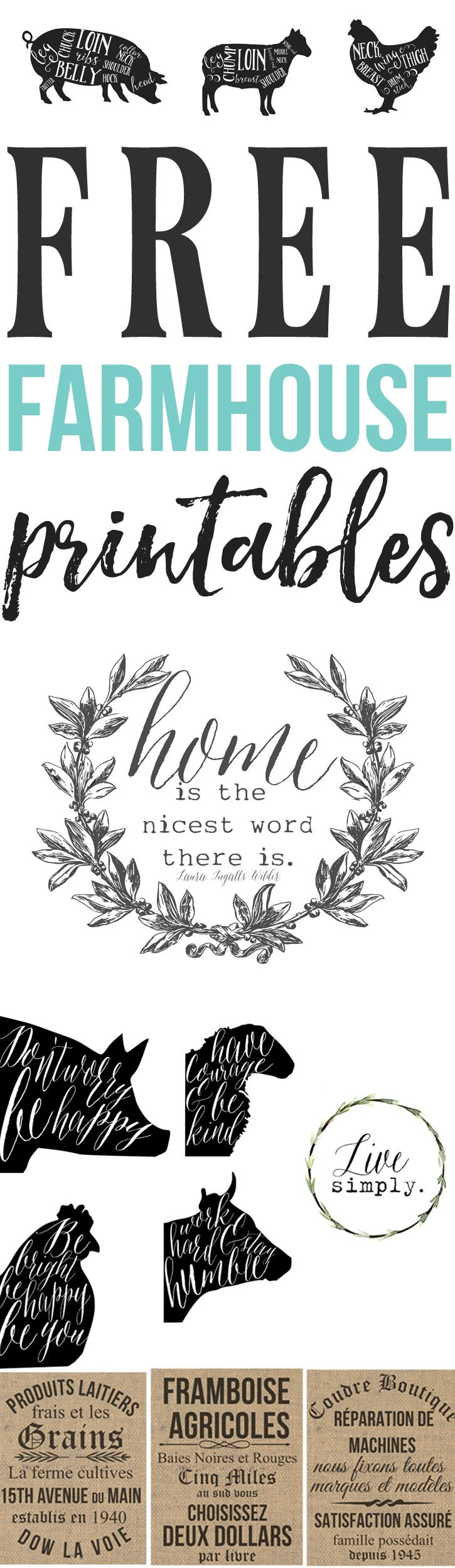 dining room printable art. Free Farmhouse Printables Dining Room Printable Art
