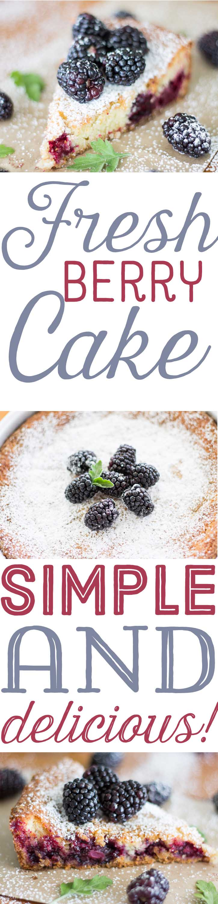 Fresh Berry Cake Recipe-Summer Recipes