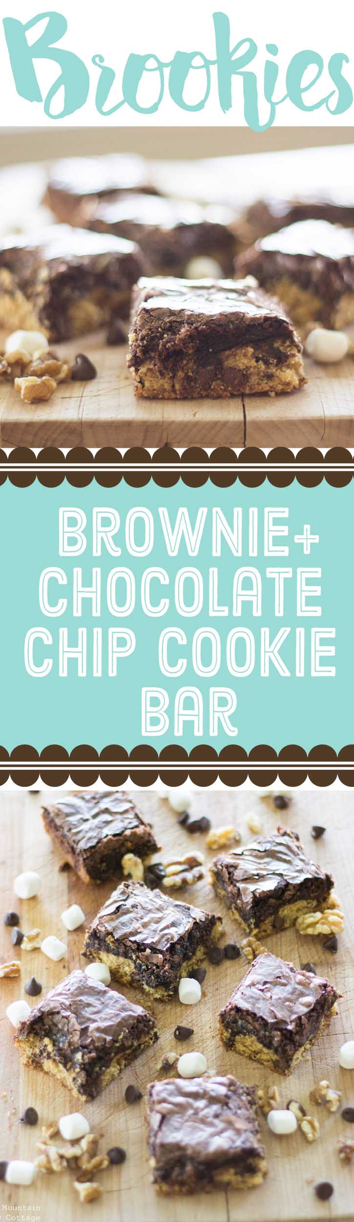 Brookie Recipe- Brownie+Chocolate Chip Cookie Bar