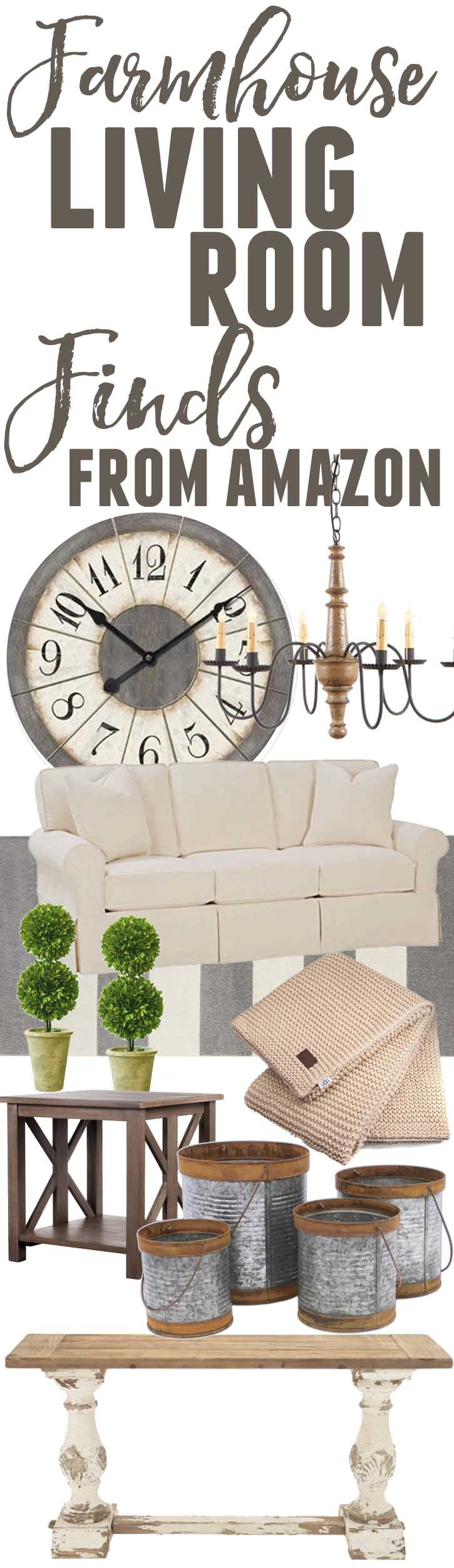 Farmhouse Living Room Finds from Amazon - The Mountain View Cottage