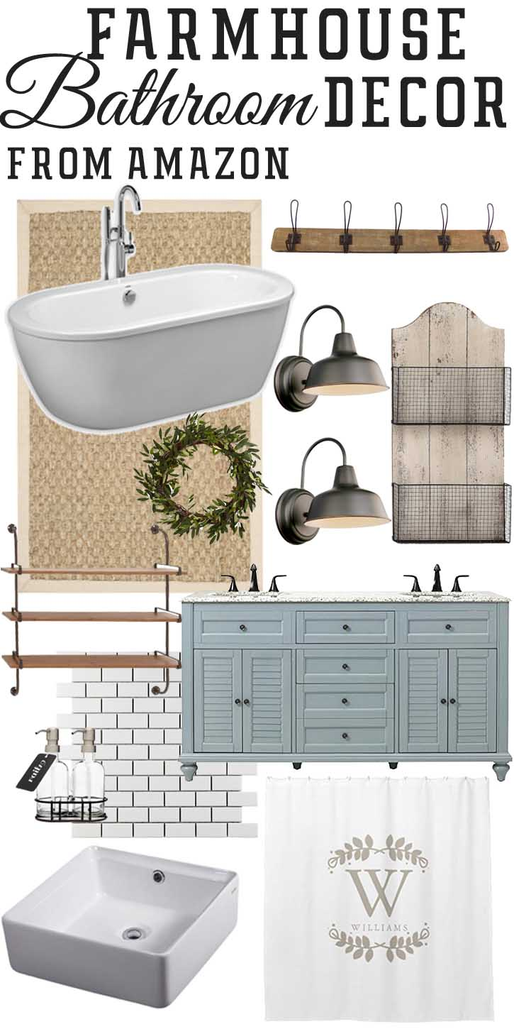 Amazon Farmhouse Inspired Bathroom Finds The Mountain View Cottage