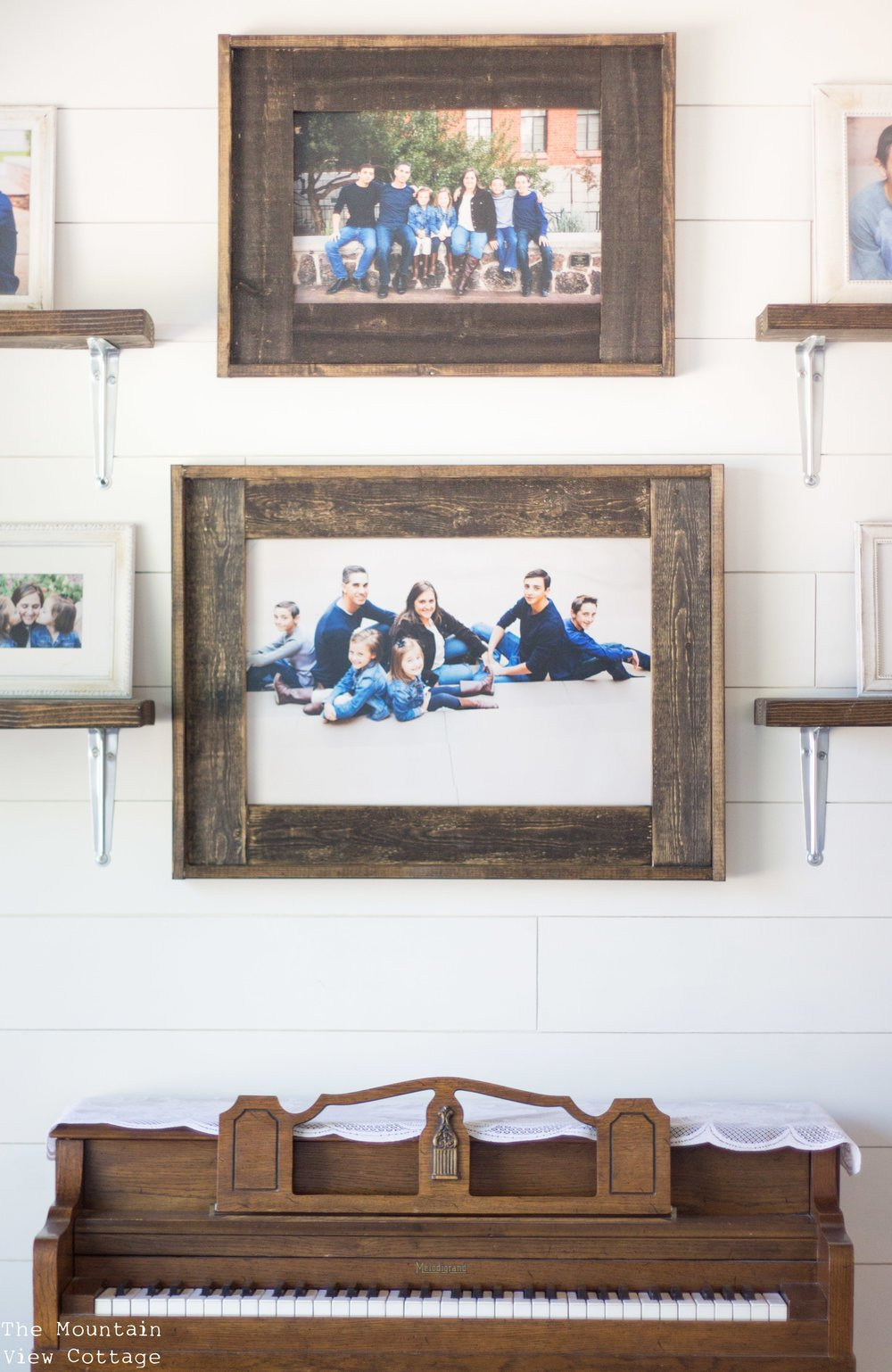 DIY Farmhouse Inspired Wood Picture Frames - The Mountain View Cottage