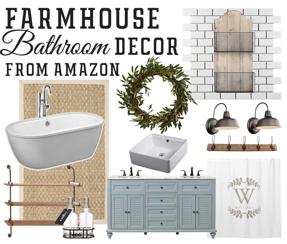 Amazon farmhouse inspired bathroom finds the mountain for Bathroom ideas amazon