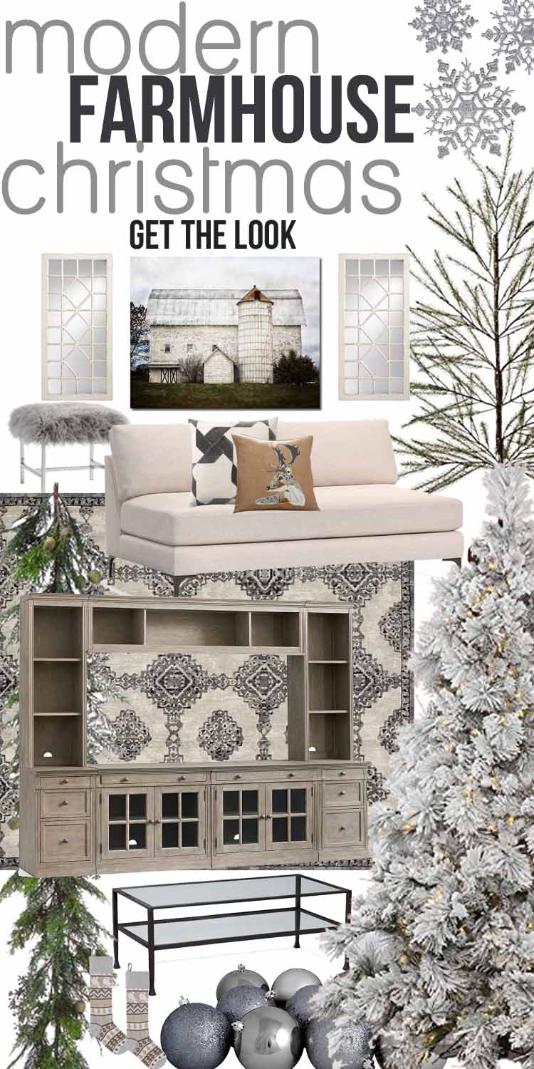 farmhouse art print - Farmhouse Christmas Decorating Ideas