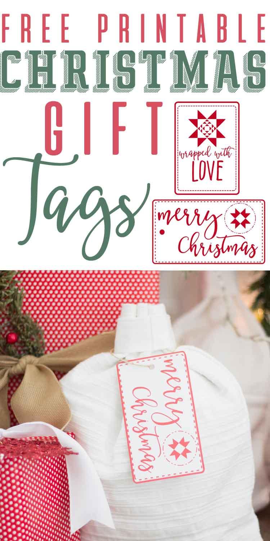 farmhouse inspired-free printable Christmas gift tags