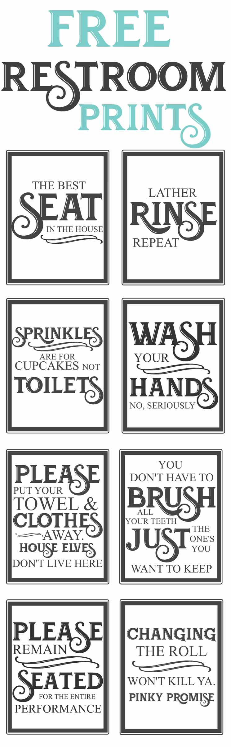 Free Vintage Bathroom Printables