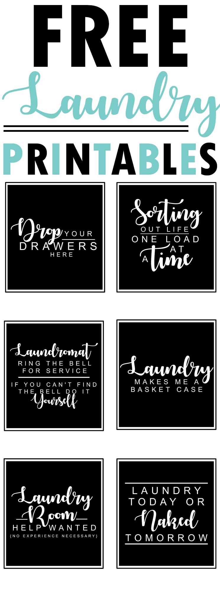 Free Laundry Room Printables - The Mountain View Cottage