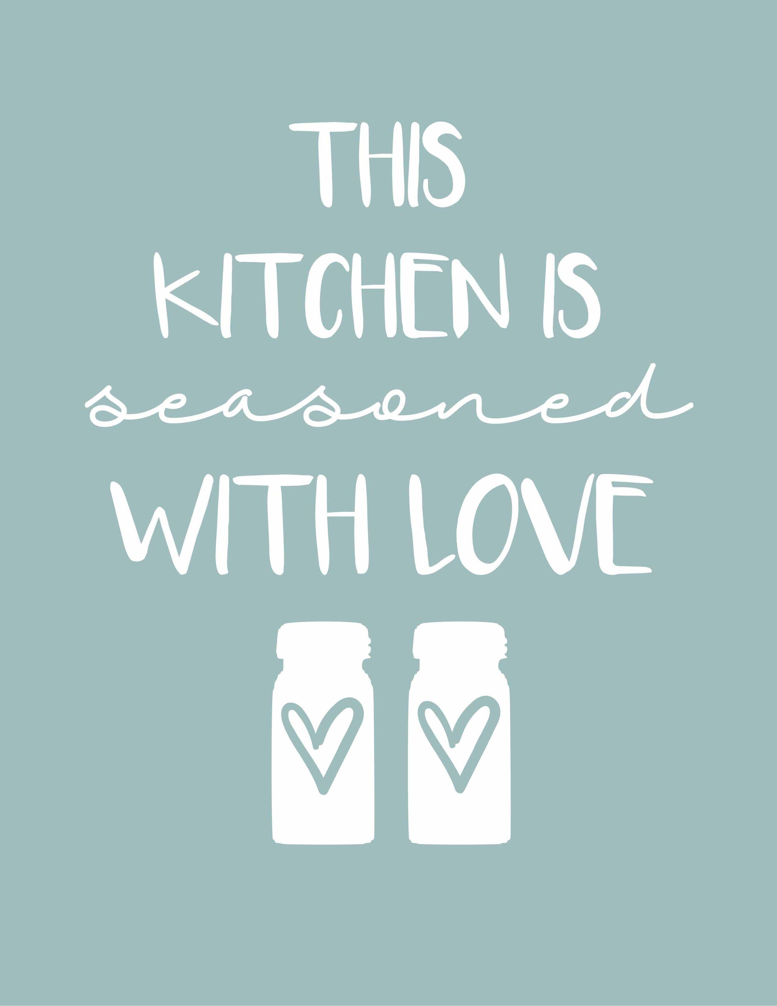 photograph regarding Free Kitchen Printables known as Farmhouse Kitchen area Printables+Aqua Kitchen area Decor - The