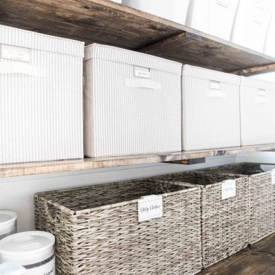 Farmhouse Inspired Laundry Room Tour and Organization