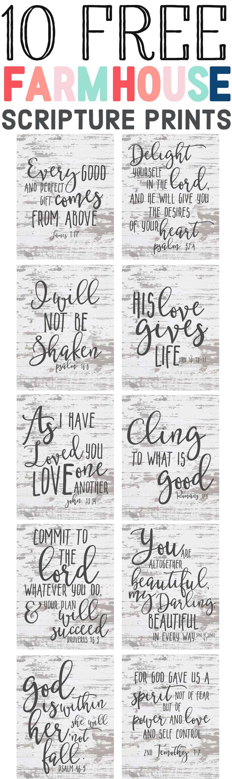 10 Free Farmhouse Style Bible Verse Prints- Update: What