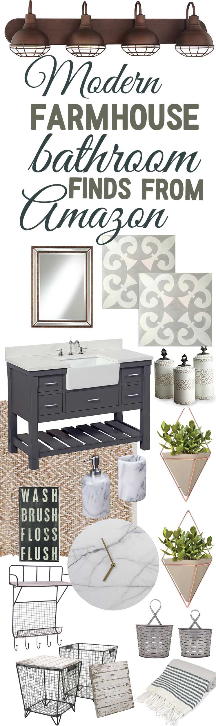 Modern Farmhouse Bathroom Decor Finds From Amazon - The Mountain ...