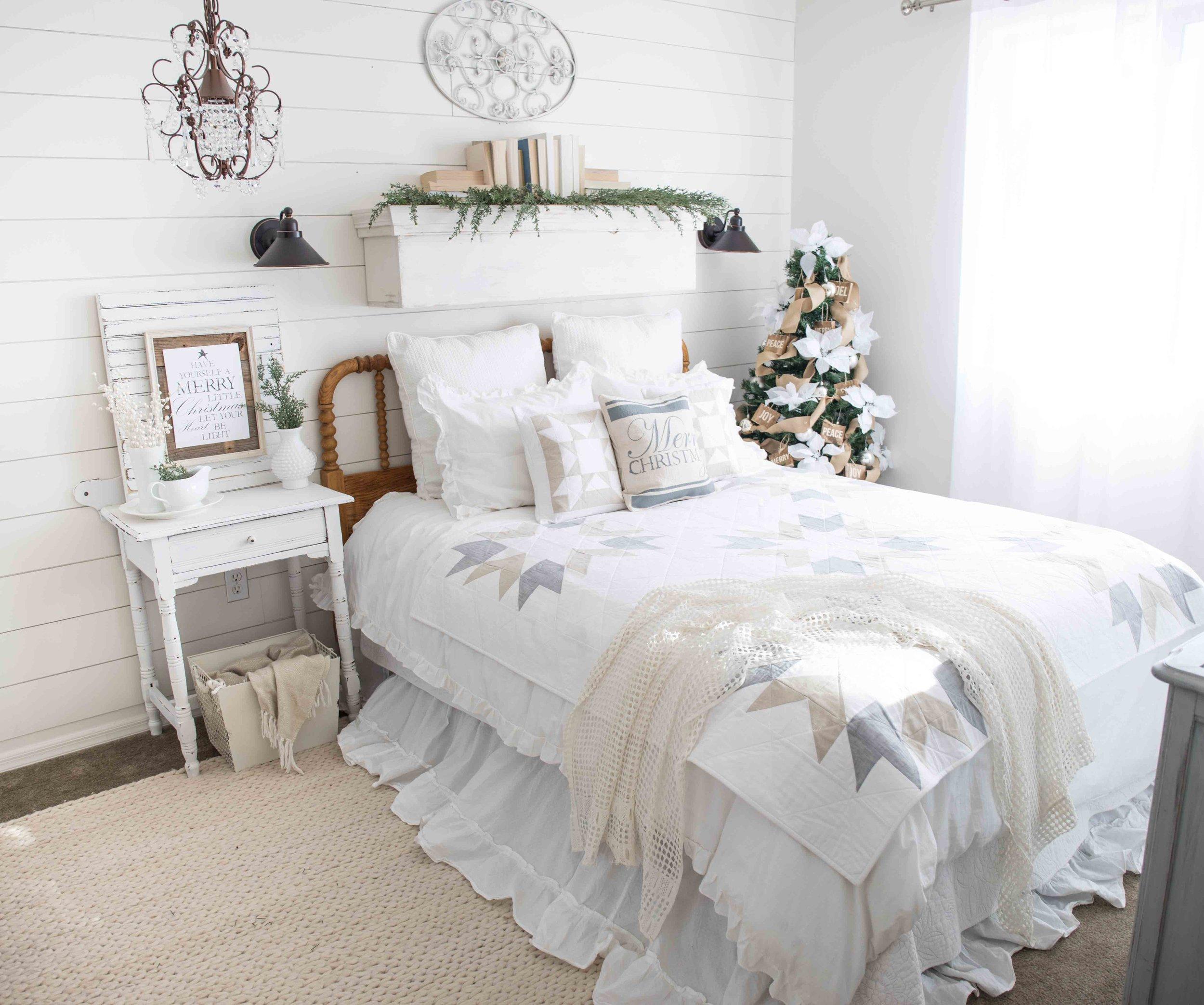 Farmhouse Christmas Bedroom Tour The Mountain View Cottage