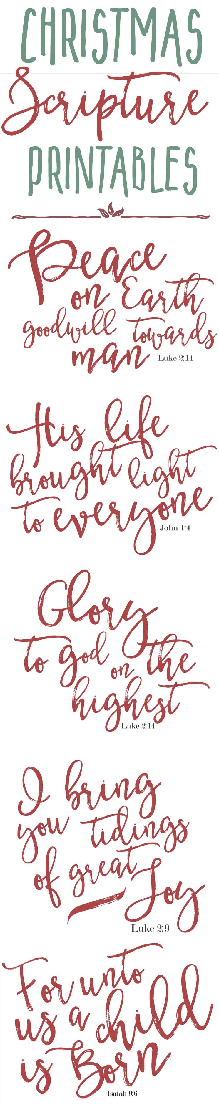 if you dont have time to print these today be sure to pin the image below to save these farmhouse christmas scripture prints for later - Free Printables For Christmas