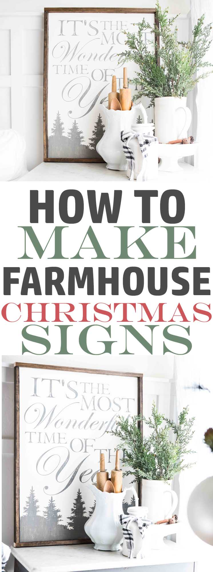How To Make A Farmhouse Christmas Sign It S The Most Wonderful Time Of The Year The Mountain View Cottage