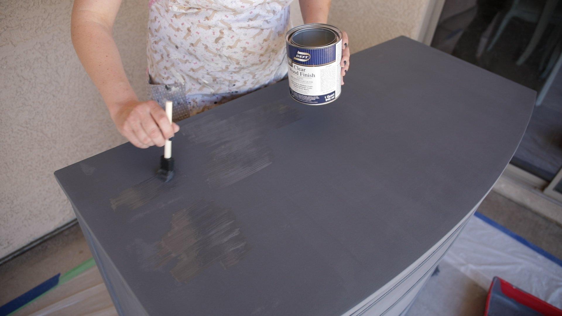 Polyurethane Top Coat Over Chalk Paint