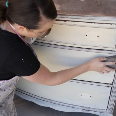 Furniture Painting-Prepping Furniture That Was Previously Painted