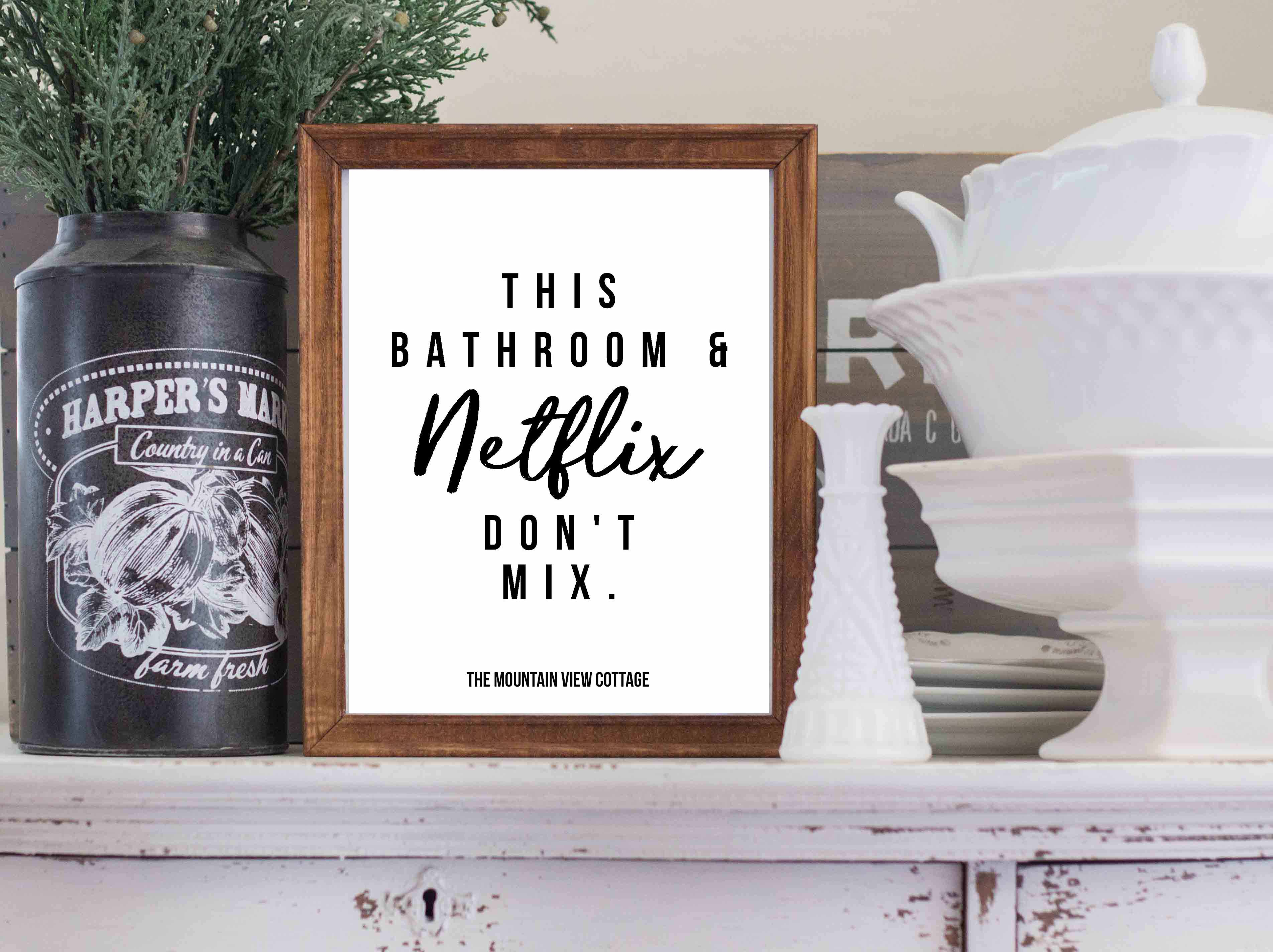 Free Bathroom Printables farmhouse printables