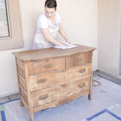 How to Milk Paint Furniture-Prepping for a Chippy Finish!
