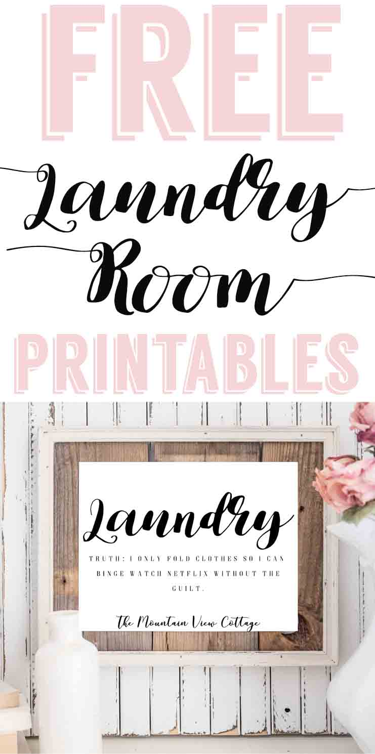 picture regarding Free Printable Laundry Room Signs named Laundry Place Printables-Cost-free Farmhouse Printables - The