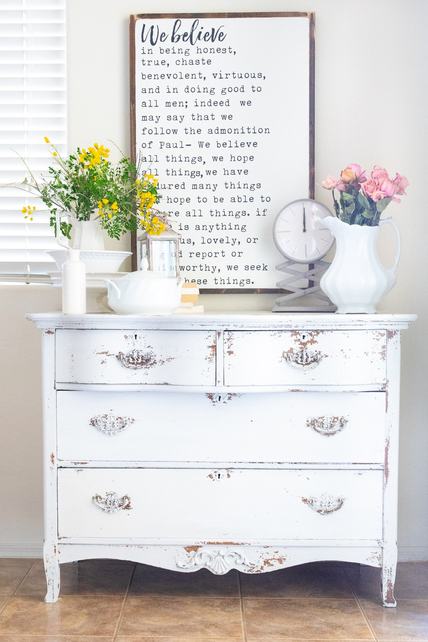 How to seal chippy painted furniture