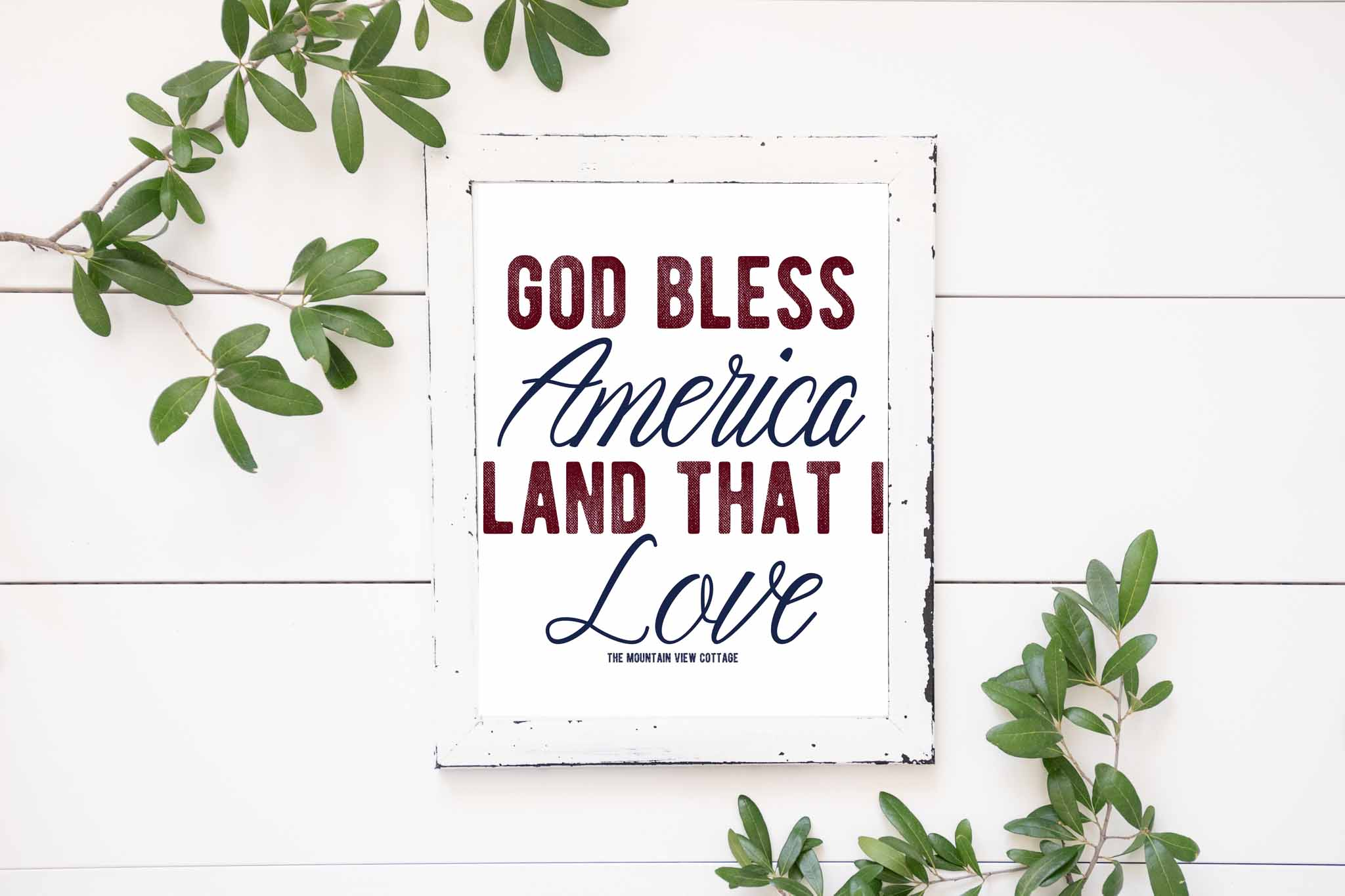 4th of July Printables-God bless america land that I love