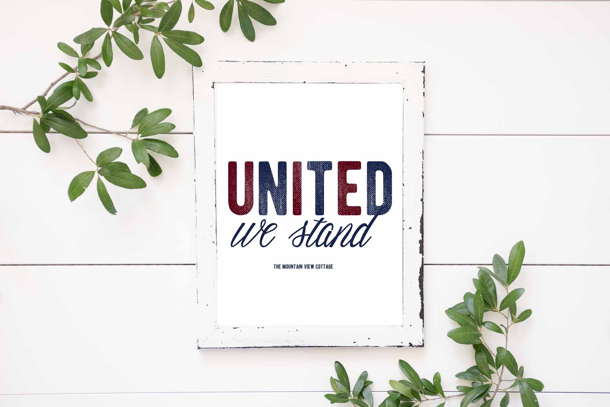 4th of July Printables-United We stand