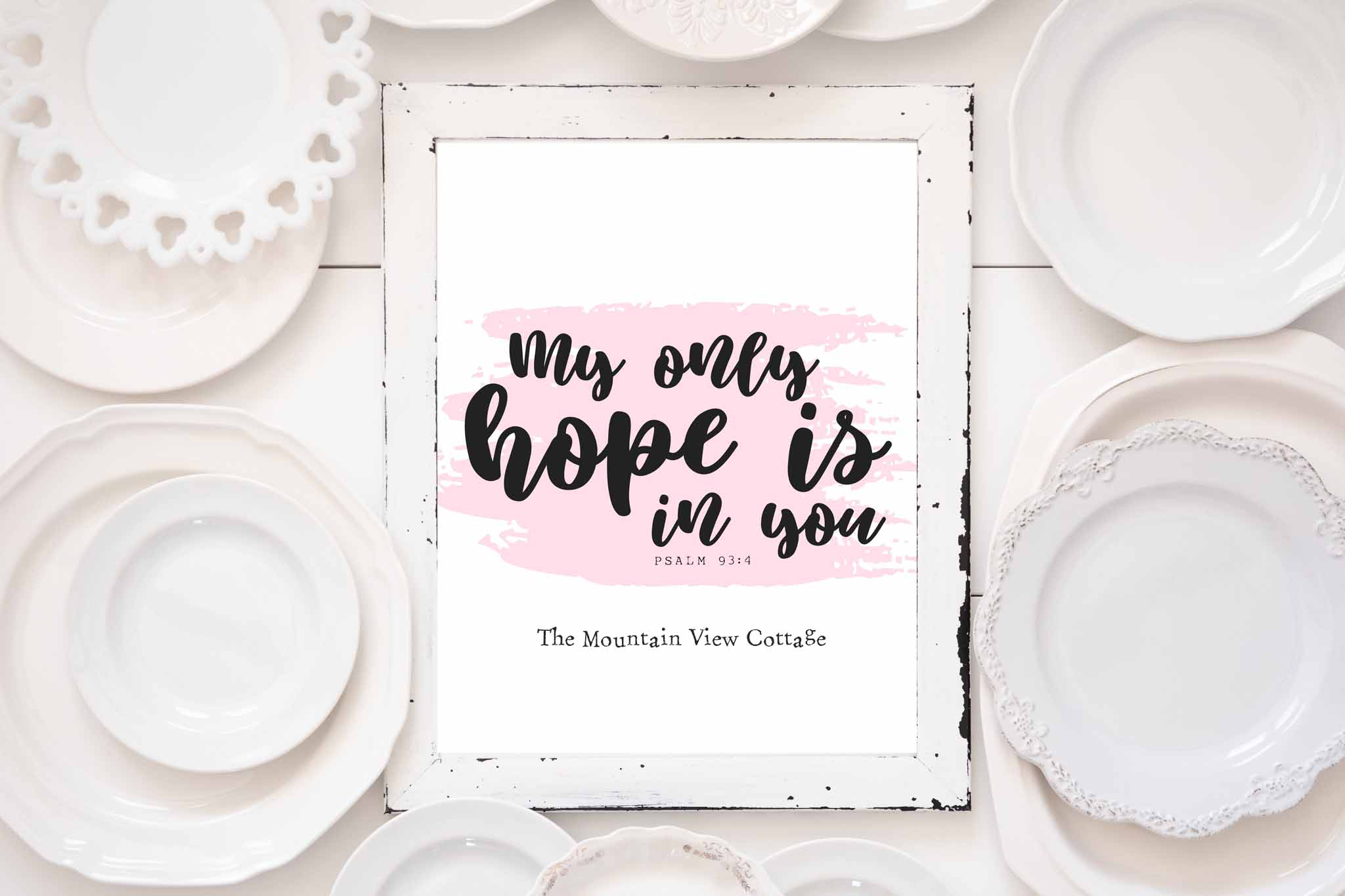 Bible Verse Print-My only hope is in you