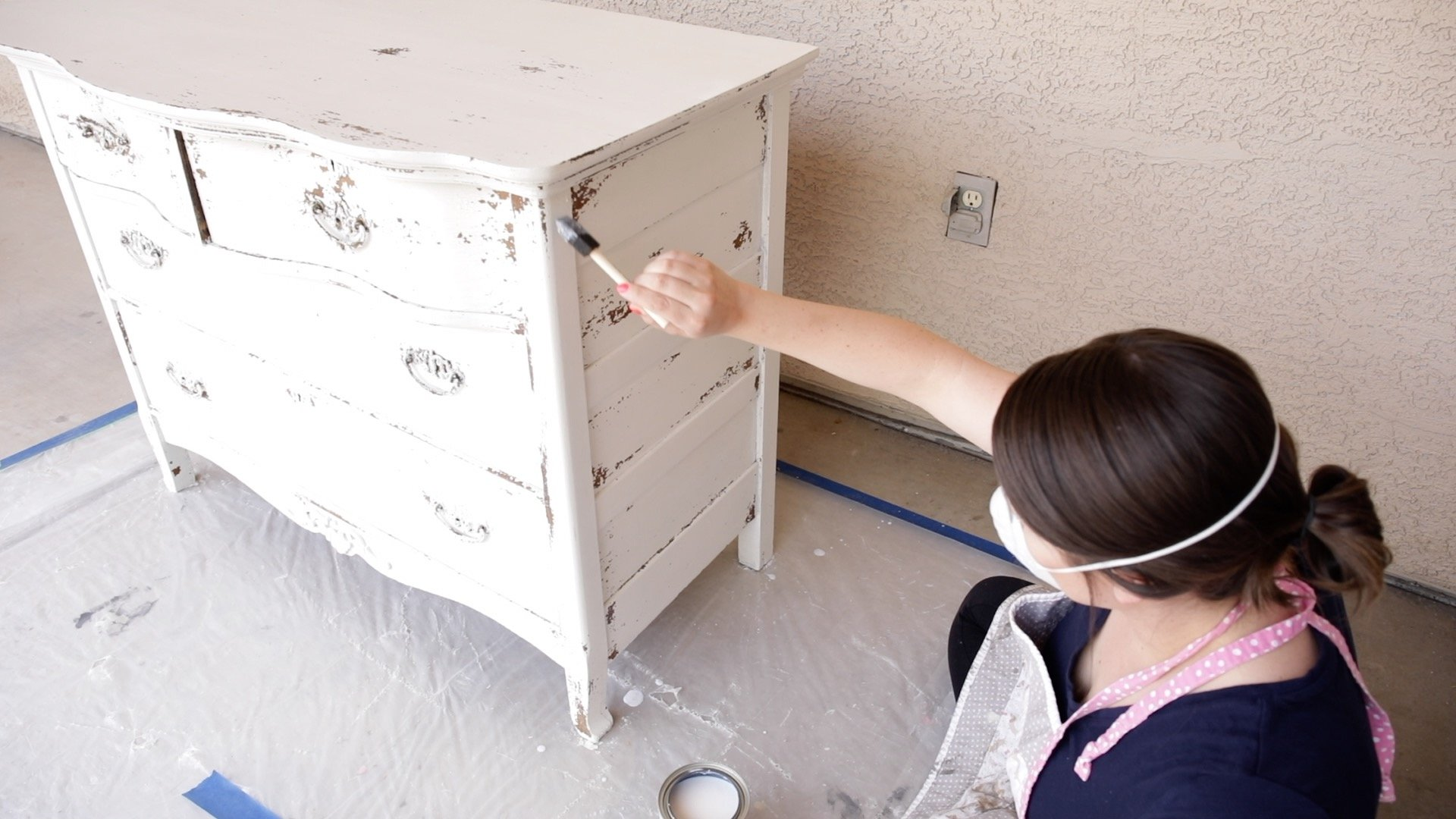 How to Seal a Chippy Milk Painted Dresser 10
