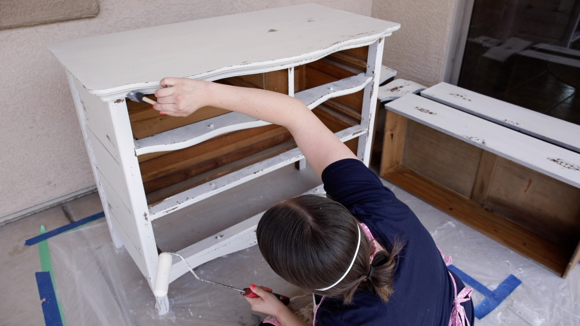 How to Seal a Chippy Milk Painted Dresser 12