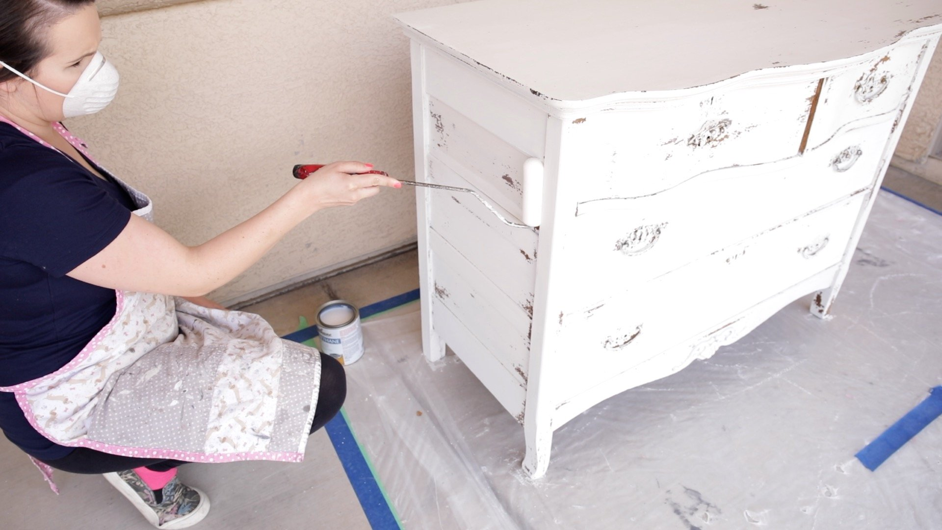How to Seal a Chippy Milk Painted Dresser 6