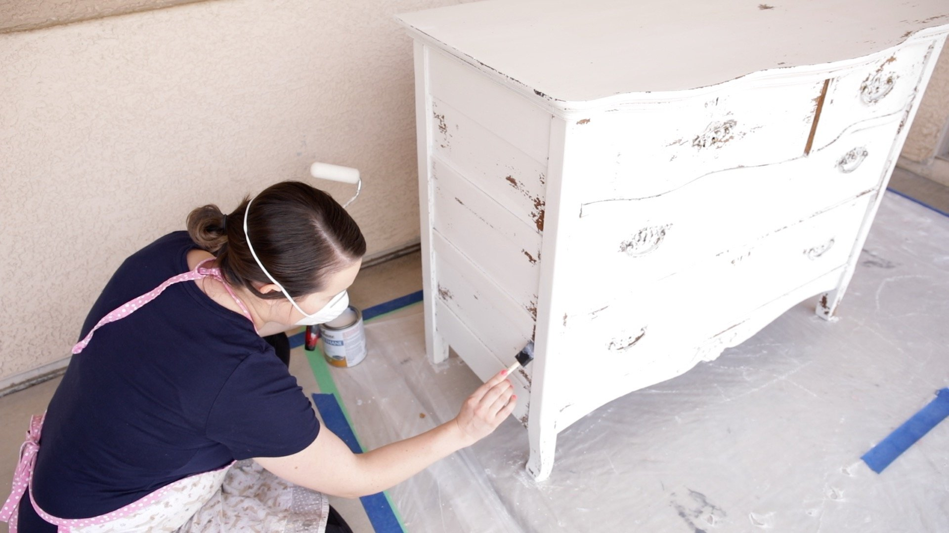How to Seal a Chippy Milk Painted Dresser 7