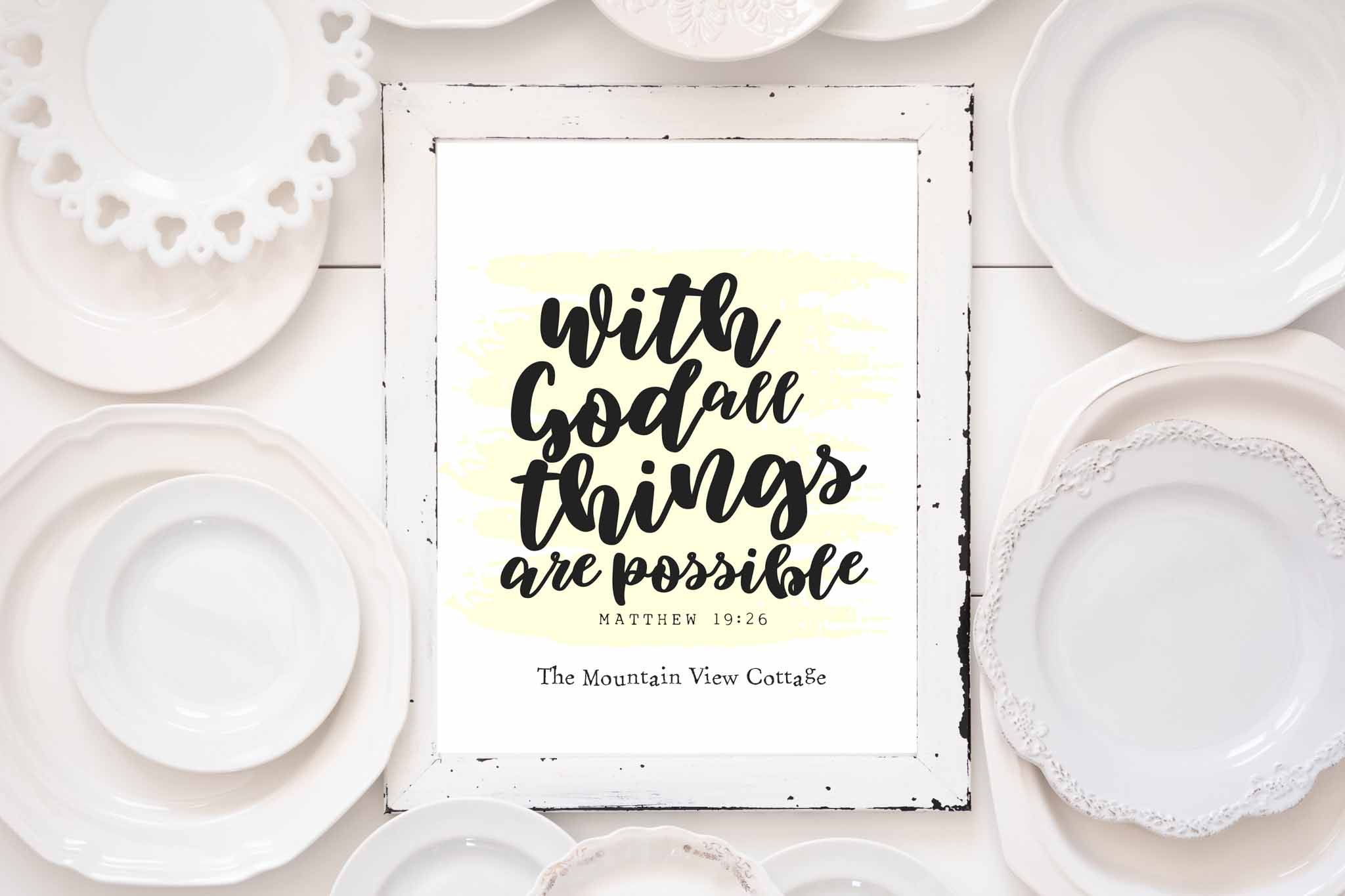 bible verse print-with god all things are possible