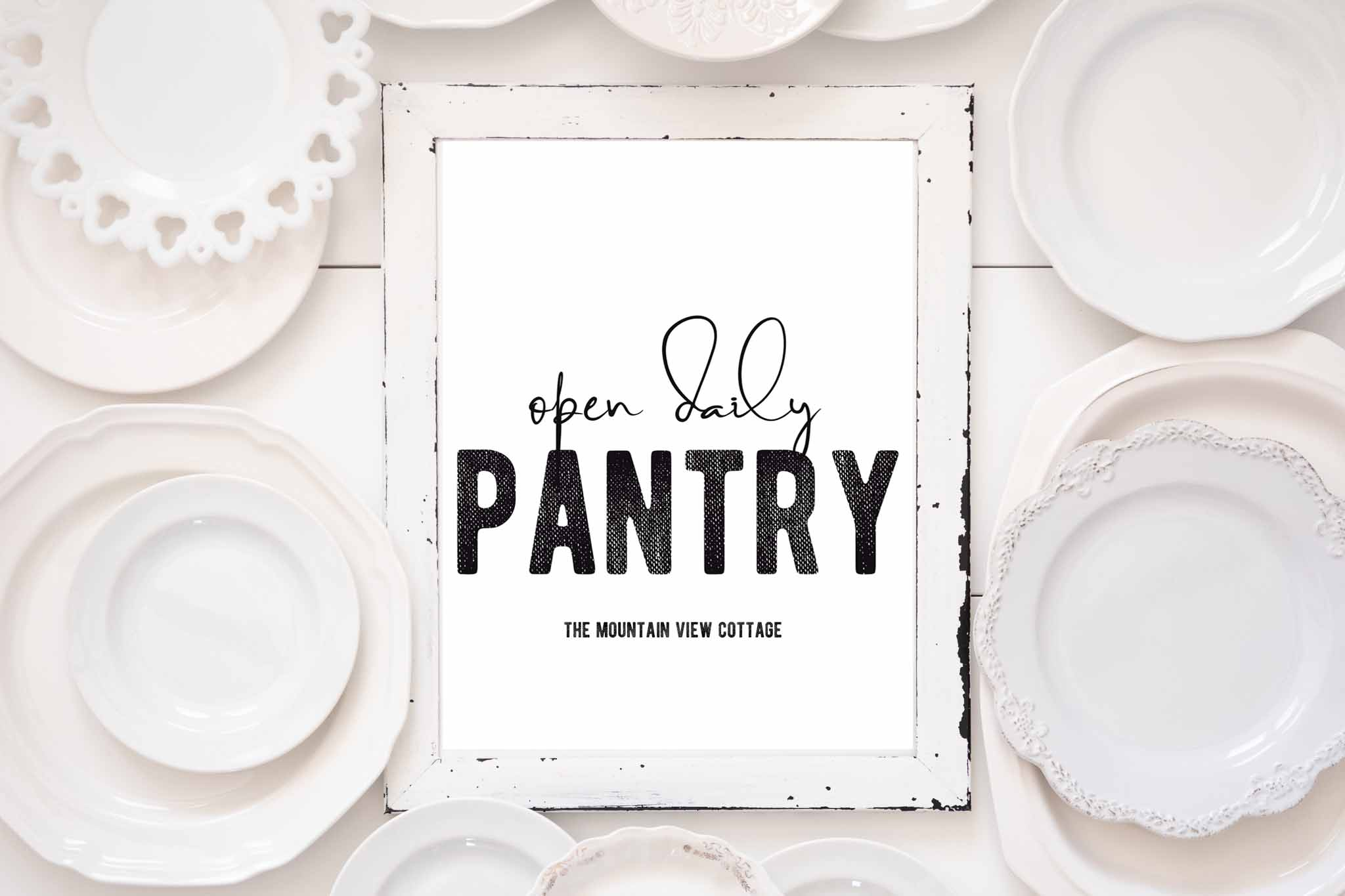 Farmhouse Printables-Pantry Open Daily