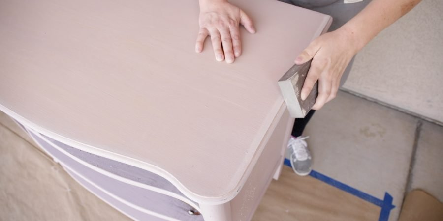 How Lightly Distress Milk Painted Furniture8