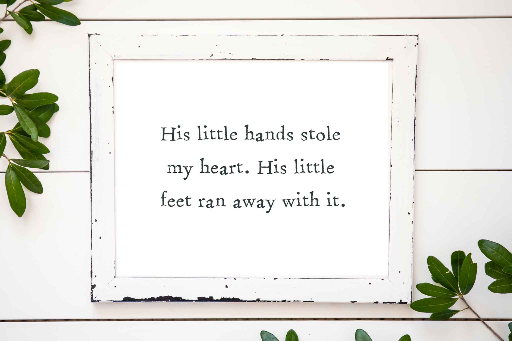 his little hand stole my heart his little feet ran away with it