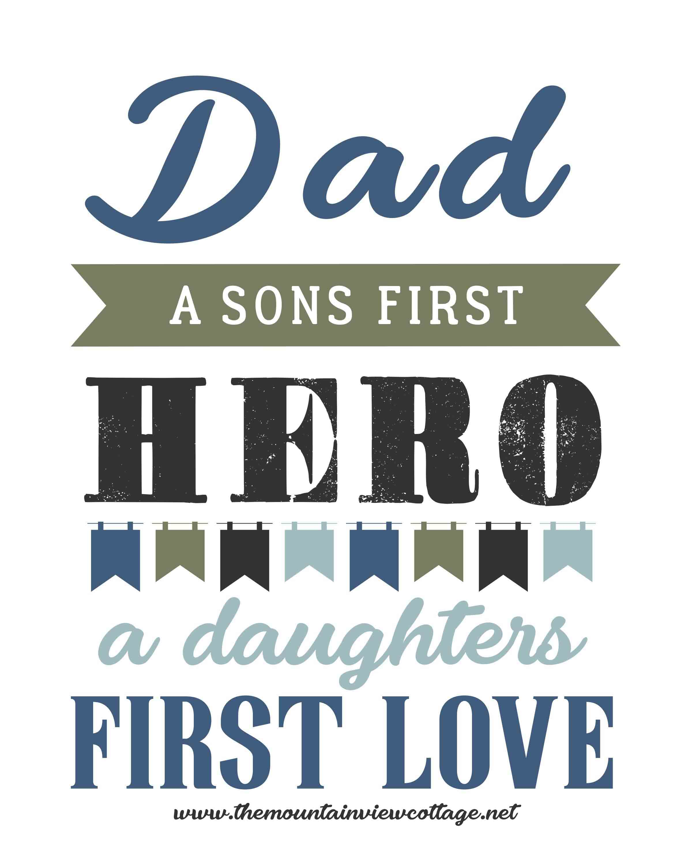 Dad quotes-dad quotes from son-dad quotes from daughter-dad a sons first hero a daughters first love