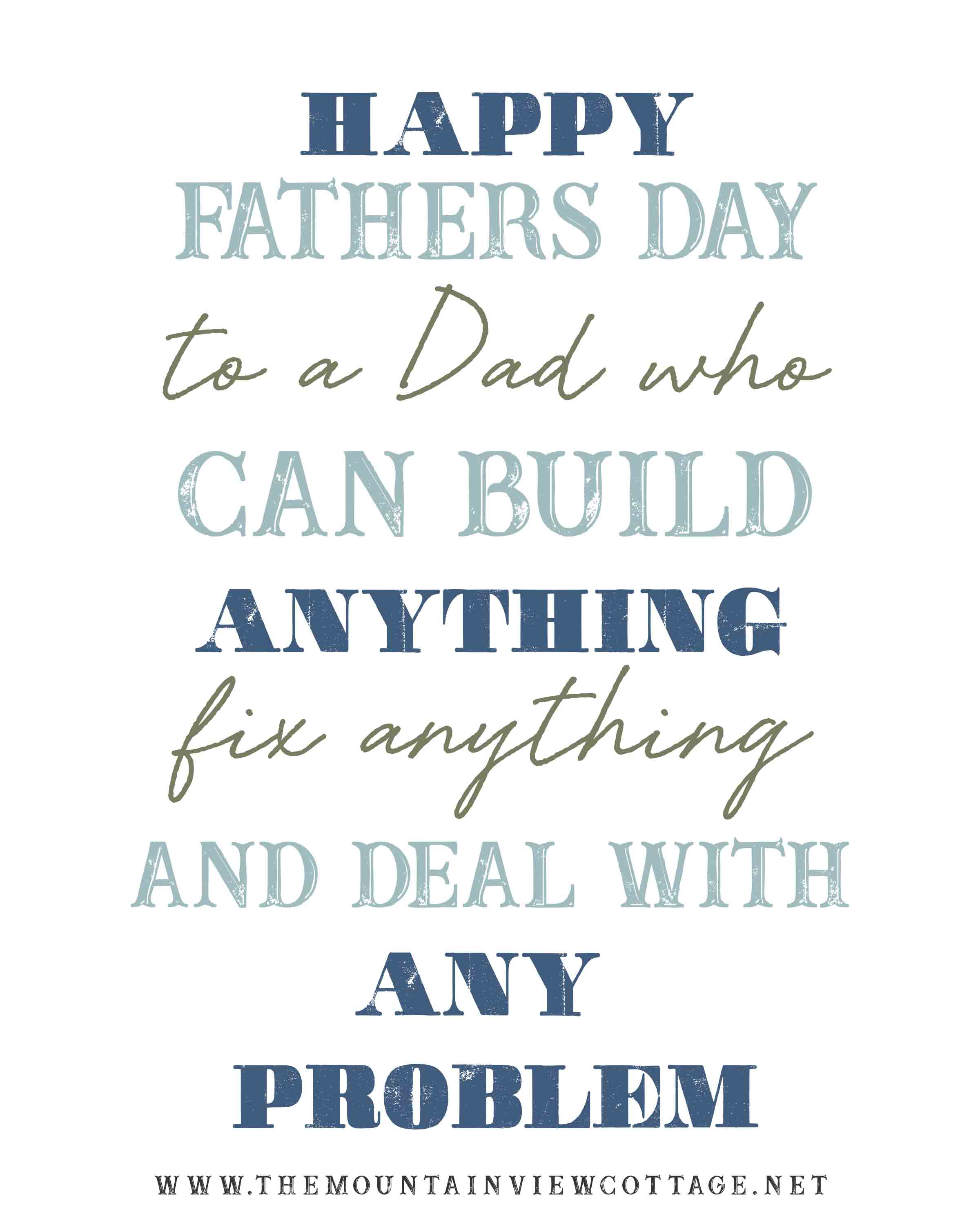 Father's Day quotes-Dad quotes-happy fathers day to a dad who can build anything fix anything and deal with any problem