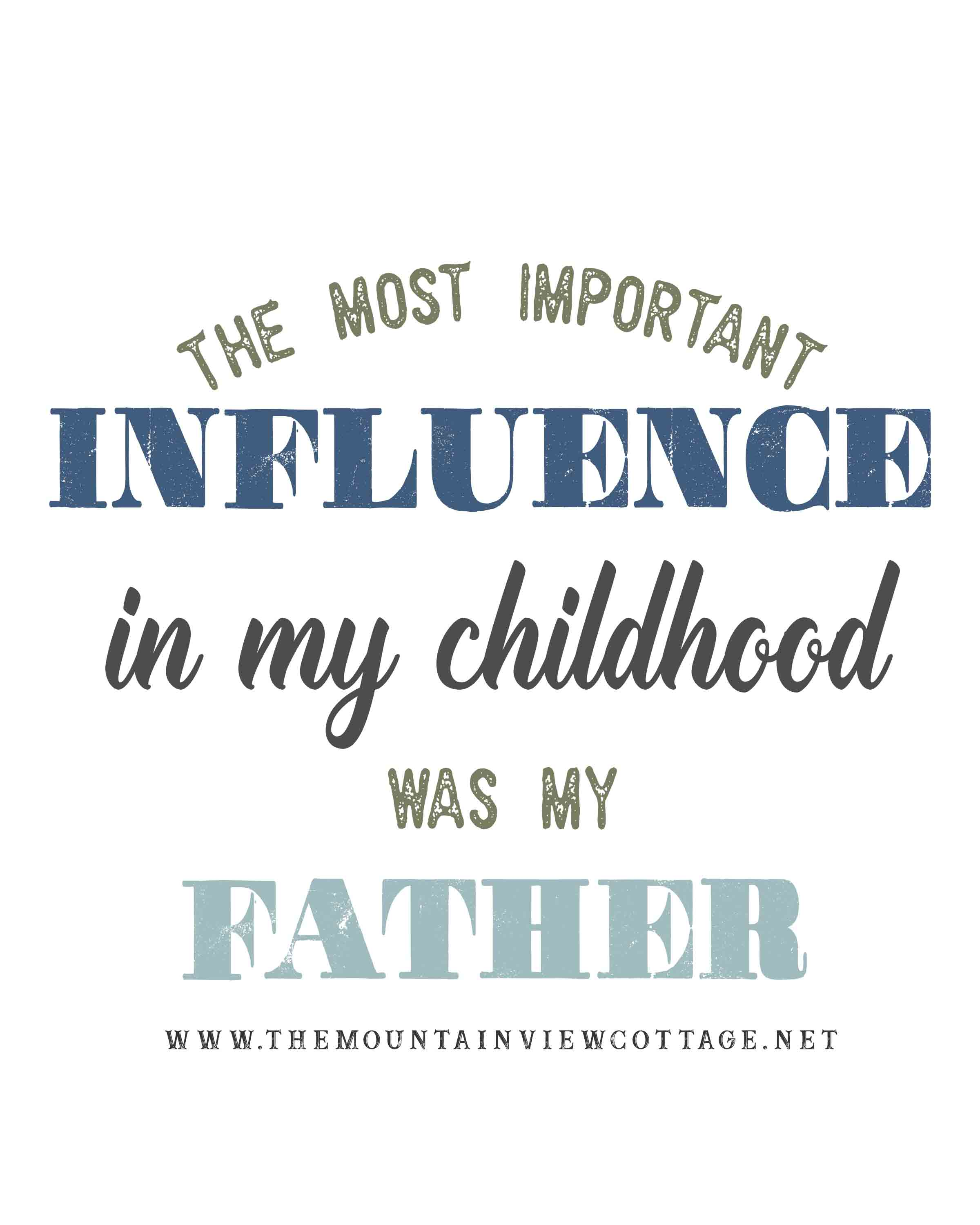 Dad quotes-Dad quotes from son-Dad quotes from daughter-the most important influence in my childhood was my father
