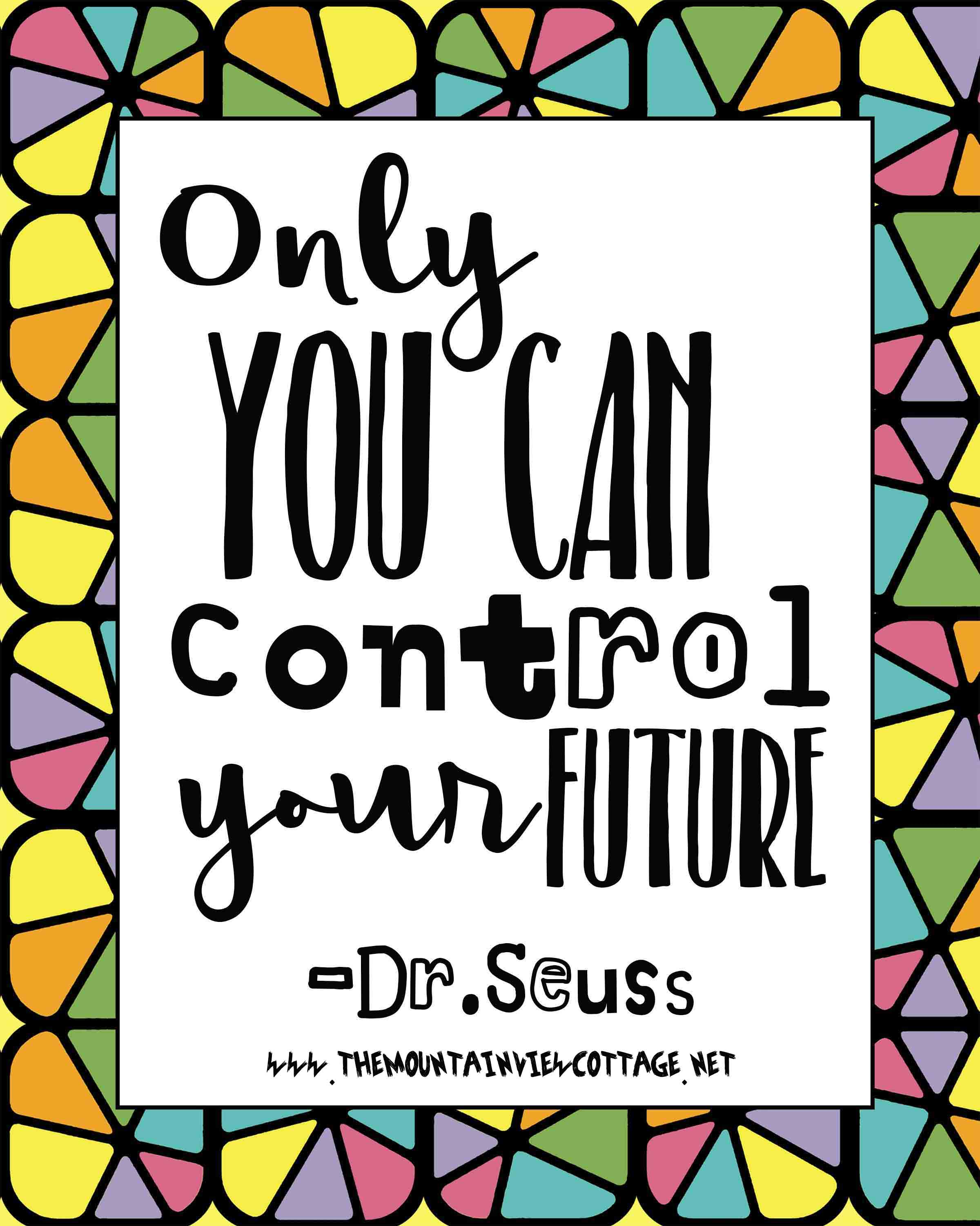 Dr.Suess Quotes for Graduation-only you can control your future