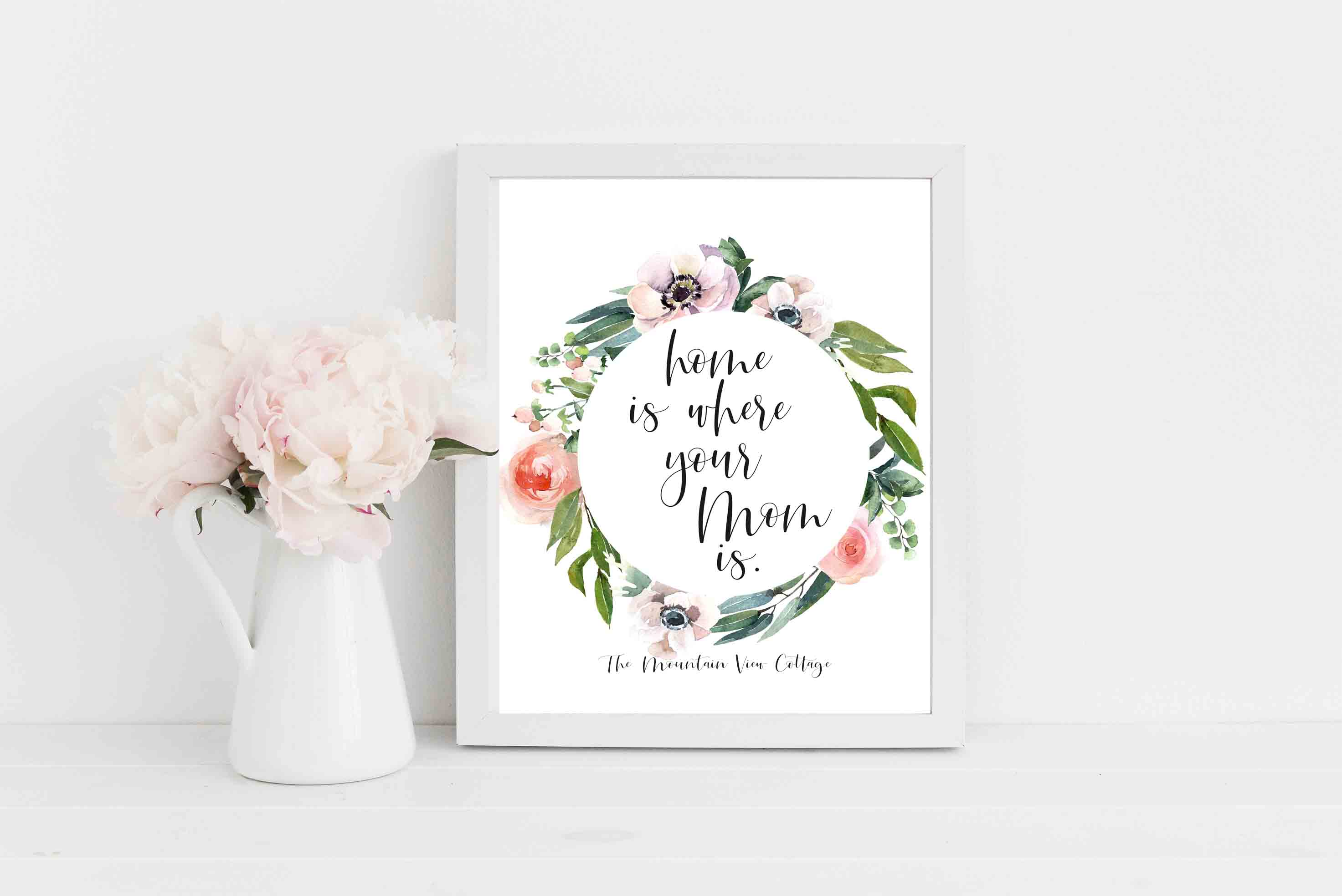 Short Mom quotes-Mom quotes-Home is where your mom is