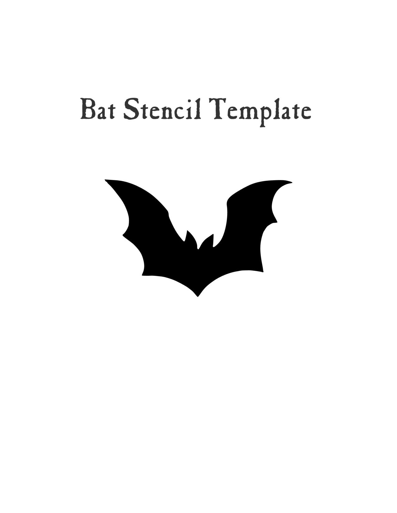 Easy Halloween Craft- Bat stencil