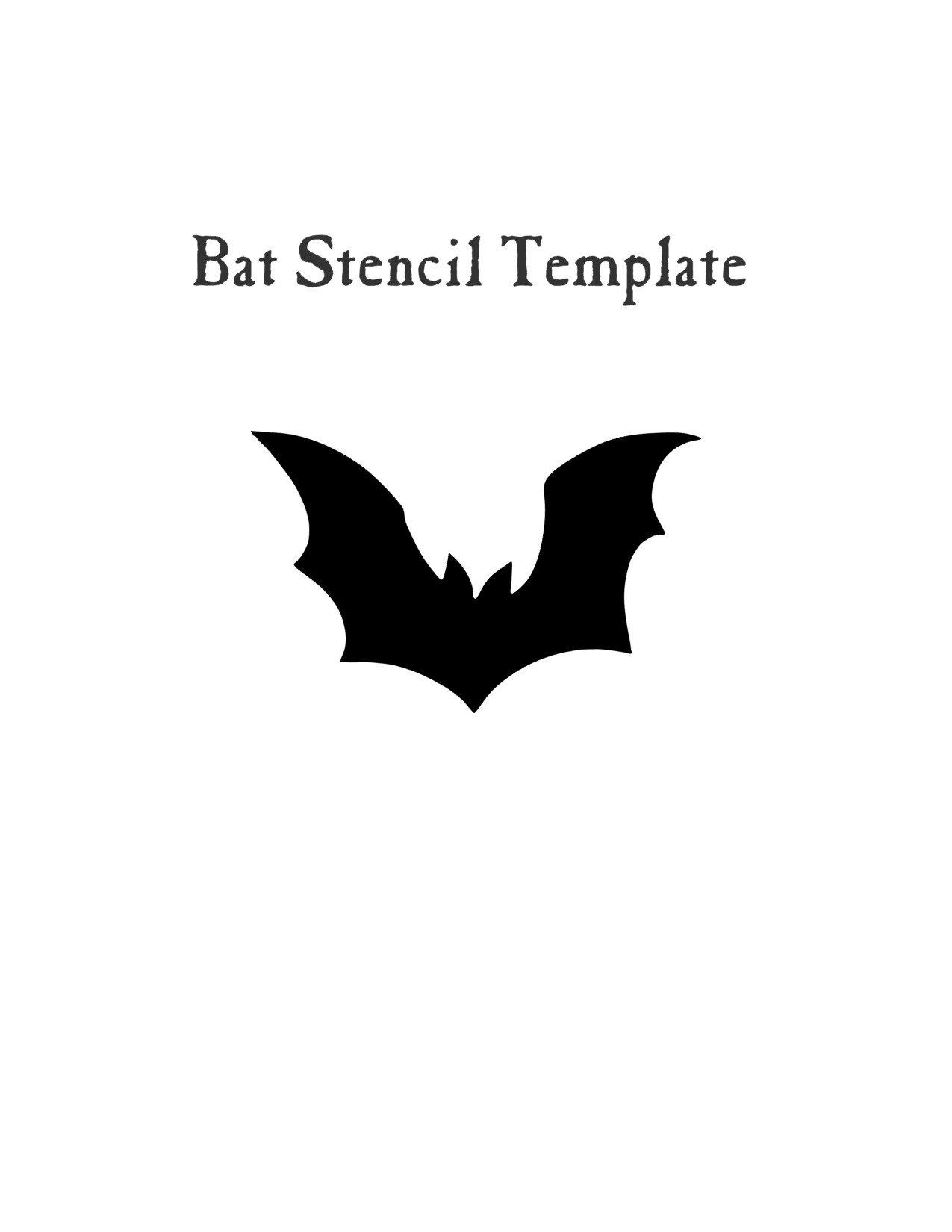 Easy Halloween Craft- Bat stencil