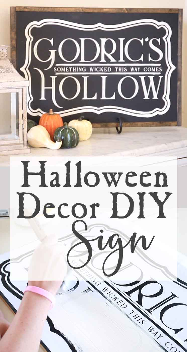 Halloween Decor DIY Harry Potter Inspired Sign The
